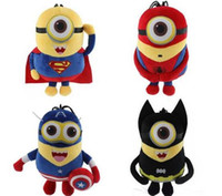 Wholesale Soft Toys Minions - hot sale Despicable me Minion Plush Toy The Avengers Spider man Batman Captain American Super Man Minion Stuffed Doll Soft Baby Toy