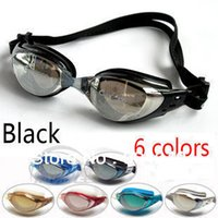 Wholesale Nose Goggles - Adult Swimming Goggles Swim Glasses Water Sportswear Anti Fog Uv protected Waterproof Adjustable Nose Black DL603-1 CLEACCO