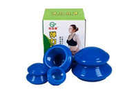Wholesale Anti Cellulite Cup Chinese - 1set* 4pcs Health care small body hijama anti cellulite vacuum rubber massager cupping cups chinese healthy therapy massages
