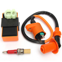 Wholesale Motorcycle Ignition Cdi Coil - Motorcycle ATV CDI Ignition 6 PIN Box & Coil For Spark Plug For GY6 50cc 125cc 150cc 152QMI order<$18no tracking