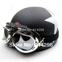 Wholesale Motorcycle Half Helmets Victory - Hot Goggles Motorcycle Half Face Motorbike Victory Helmet Motorcycle Racing Helmet for harly