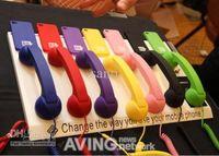 Wholesale Telephones For Iphone Ipad - Multi colors 3.5mm Retro POP Phone Telephone Handset for iPhone iPad mobile phone