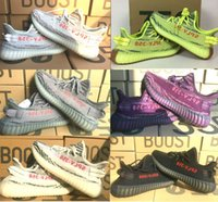 Wholesale Shoes Us14 - DHL 2018 final Version 350 v1 and v2 boost Yebra Semi Frozen With Gum sole,Blue Tint,Red Night,Beluga 2.0 Shoes