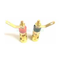 mensajes de orador al por mayor-120 piezas GOLD Audio Speaker Binding Post Terminal con resorte dentro del conector