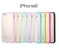 Wholesale Matte Iphone Frosted Bumper - Hybrid Frosted Matte Hard Plastic PC Back Cover Soft TPU Bumper Frame Case For iPhone 4 5 5C 6 Plus Samsung S5 S6 Note 3 Note4 Grand 2 G7106