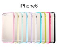 parachoques helado iphone mate al por mayor-Hybrid Frosted Matte Hard Plastic PC Back Cover suave TPU parachoques marco caso para el iPhone 4 5 5C 6 más Samsung S5 S6 Nota 3 Note4 Grand 2 G7106