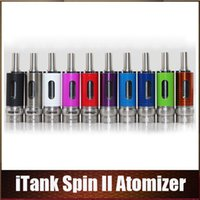 Wholesale Spin Airflow - Newest Itank Spin II Atomizer Airflow Control Dual Coil Itank 2 EGO Thread fit Vision Spinner 2 3 MUV Battery vs Aerotank Mow Atomizers