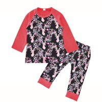 Wholesale newborn gift sets for girls for sale - Reindeer Top and Leggings Set for Girls Christmas Theme Outfits For Newborn Baby Gift Idea Cotton Baby Clothing Sets Baby Girl Clothes