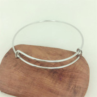 Wholesale Silver tone Golden Round Fabulous Solid Brass Adjustable Basic Bangles Wired Blank Bracelet Findings