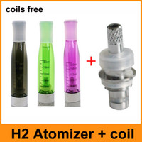 Wholesale Buy Thread - Newest GS-H2 GS H2 Atomizer Clearomizer Buy Atomizer Send Coils E Cigarette Coils Replaceable Cartomizer Fit For eGo 510 Threading batteries
