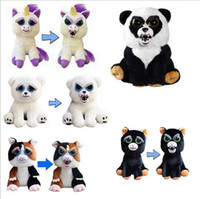Wholesale Cartoon Stuffed - Face Change Feisty Pets Animals Plush toys cartoon monkey unicorn Stuffed Animals for baby 20 Styles 20 pcs YYA878