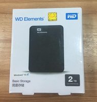 "Wholesale hdd hard drives - New Hard disk 2TB 2.5"" 2.0 Portable USB Hard Drive HDD Black External Hard drives free shipping"