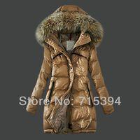 Wholesale Ladies Cashmere Long Coat Sale - Wholesale Sale Top top quality Down Jacket For Women Fashion Coats Outerwear Duck Fur Collar Clothes Lady Long Parka my012