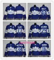 Wholesale Mixed Leaf - 2017 Centennial Classic Premier Player 100th Toronto Maple Leafs 16 Marner 34 Auston Matthews 44 Rielly Stitched Hockey Jersey Mix order