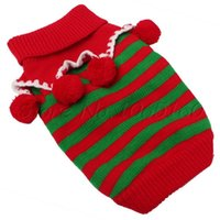 Wholesale Red Dog Christmas Sweater - Wholesale-Dog Pet Knit Sweater Warm Winter Christmas Xmas Pullover L Size