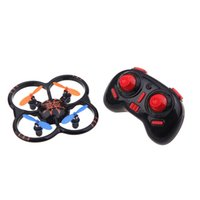 U207 6 Axis Gyro RC Helicopter 4CH Radio Controll mini-Quadcopter UFO Toys w / LED Lights Noir / Orange Couleur A5 A2
