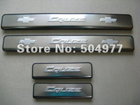 Wholesale Cruze Door Sill Plates - Auto door sills,car sill plate,scuff plate for Chevrolet Cruze 2009-2011, stainless steel,auto interior accessories