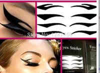 Wholesale Eyelid Transfer - 4Pairs Style Sexy Temporary Eye Tattoo Eyelid Transfer Eyeliner Shadow Sticker