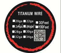 Wholesale titanium coil resistance resale online - 20pcs Titanium Wire Resistance Feet TA1 Ti AWG g g g Gauge Coil Roll For Temp Control TC Vape Mod Electronic cigarettes