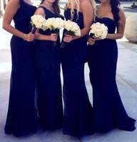 Wholesale Long Affordable Bridesmaid Dresses - Gorgeous Strapless Sweetheart Pleats Floor Length Affordable Chiffon Affordable Mermaid Royal Blue Bridesmaid Dresses