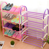 Wholesale Floor Bamboo - Shoes Holder Simple And Easy 3 Tier Plastic Shoe Rack Storage Articles Multi Color 6 52oc C R