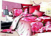 Wholesale Home textiles New style Perfume lily design D bedding set of duvet cover bed sheet pillowcase