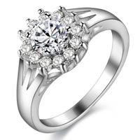 925 sterling silber armband weiß topas großhandel-925 Sterling Silber überzogene Ringe Jewerly Ringe Ring für Frauen Engagement White Topaz Ringe Hochzeit Ringe Armband Zubehör