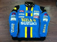 Wholesale Motorcycle Jacket Suzuki - Embroidery LOGO MOTO GP Racing Cotton Jacket Motorcycle Rider Jacket SUZUKI RIZLA World Rally Team Jacket A069 A068