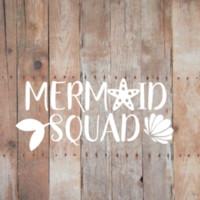 vinyl-angeln aufkleber großhandel-Meerjungfrau-Gruppe - VINYL Autofenster Aufkleber Aufkleber Strand Ozean Fische Leben schwimmen Schwanz