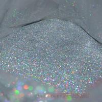 nagel glitzer tasche großhandel-Großhandel-100 gr / beutel laser silber Farbe Glänzende Nagel Glitter Streifen Pulver für Nail art DIY Dekoration und Handwerk Geschenke