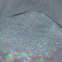 Wholesale nail glitter bag - Wholesale- 100g bag laser silver Color Shining Nail Glitter Strips Powder for Nail Art DIY Decoration and Craft Gifts
