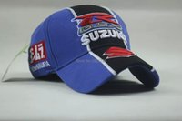 Wholesale Suzuki Caps - Wholesale-F1 Racing Car Team New Suzuki Embroidery Cotton Sports Baseball Cap Wholesale Hat