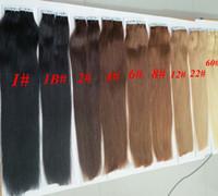 trame de peau de remy indien achat en gros de-Top qualité 50g 20pcs 25pcs colle peau trame PU bande dans l'extension de cheveux humains 18 20 22 24 pouces extension de cheveux indien brésilien