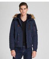 Wholesale Tan Leather Jacket Men - 2018new m-3xl flight jacket men's leather jacket with fur collar removable cowskin winter leather jacket  coat men tan black brown
