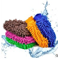 Wholesale Wholesale Chenille Microfiber Mitt - Fashin new hot sale Microfiber Snow Neil fiber high density car wash mitt car wash gloves towel