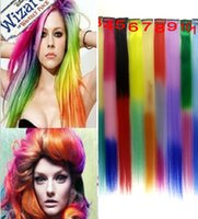 "Wholesale Clip Hair Extensions Kanekalon - Hot Ombre Synthetic Clip in on hair extensions 20"" 20pcs lot high quality straight kanekalon xpression hair pieces"