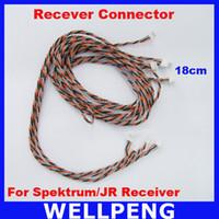 Wholesale Spektrum Receivers - 10pcs lot Satellite Connector 18cm length For Spektrum Receiver and JR Receiver