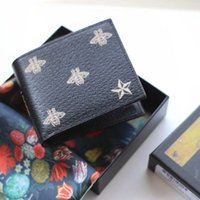 Wholesale Open Paragraph - 2018 new best quality men leather brand honeybee classic luxury wallet casual short paragraph designer cardholder pocket fashion wallet men