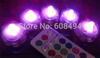 Wholesale Color Changing Tea Light Led - 10pcs  Lot Led Submersible Floralytes Remote Controlled Floral Tea Light Candle W  Timer Controller Rgb Color -Change Wedding Xmas