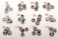 Wholesale Wholesale Ancient Coins - Hot ! 48Pcs Ancient Sliver Bulk Shiny Stopper Rubber Beads Fit Charms Bracelet 12 style