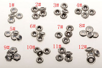 Barato Grânulos Pulseira-Quente! 48Pcs Ancient Sliver Bulk Shiny Stopper Borracha Beads Fit Charms Bracelet 12 style