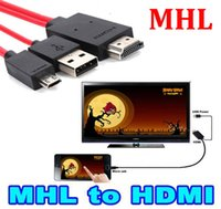 Wholesale Hdtv Adapter Galaxy Tab - Micro USB MHL to HDMI Cable HDTV Adapter mhl hdmi for Samsung Galaxy S5 S4 S3 Note 2 Note 3 Galaxy Tab 3 Tab S Tab Pro