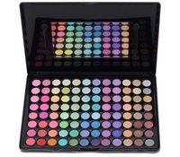 Wholesale Eye Shadow Palette 96 - Wholesale-2015 professional 96 Color Eyeshadow Palette satin matte Eye shadow Makeup kit Cosmetics Set Free shipping