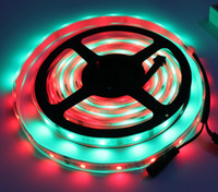 Wholesale Smd Led Strip Ic - Magic LED Strip Dream Color 6803 IC 5050 RGB SMD Intelligent Light 150 LED 5M waterproof 133 Colors Program With Controller 2015 New Arrival