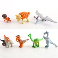 Wholesale Spot Toys - Free Shipping 7pcs Arlo Spot The Good Dinosaur 3-6CM Action Figures Set fors Kids best Christmas gift New