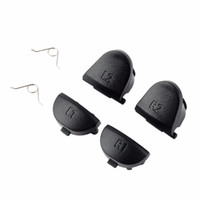 Wholesale Ps Switch - Replacement Parts Button & Trigger Replacement Set 2 Pairs Trigger Buttons + 2 Springs for PS4 Controller Playstation 4 L1L2R1R2