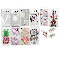 Wholesale Floral Skin - For Galaxy S7 Edge Plus A310 A510 J5(2016) Dreamcatcher Butterfly Flower Henna White Feather Clear Floral Paisley Mandala Soft TPU Case Skin