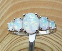 Wholesale White Fire Opal Set - Nice White Fire Opal Rings For Anniversary