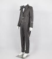 kriko kostümleri toptan satış-Kabus Önce Noel Cosplay Jack Skellington Şerit Kostüm Serin