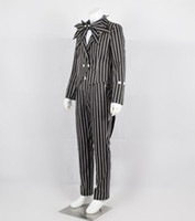 The Nightmare Before Christmas Cosplay Jack Skellington Stripe Costume Cool